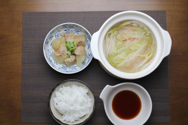ベーコン鍋と豚大根