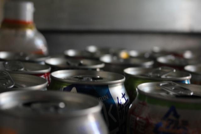 ビールとチューハイの空き缶