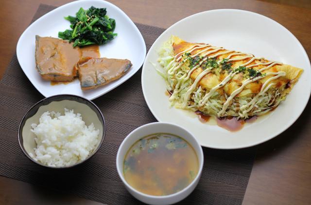 鯖の味噌煮ととん平焼き