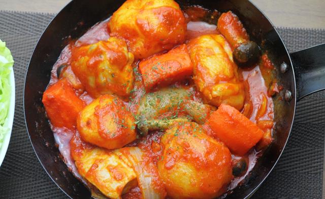 鶏肉と野菜のトマト煮