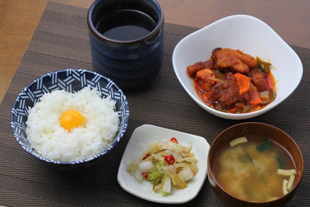 酢鶏の朝食