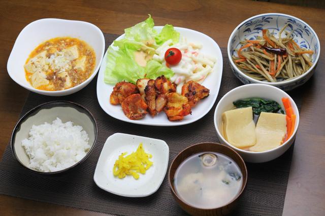タンドリーチキン/麻婆豆腐/きんぴら