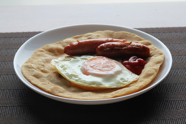 チャパティの朝食