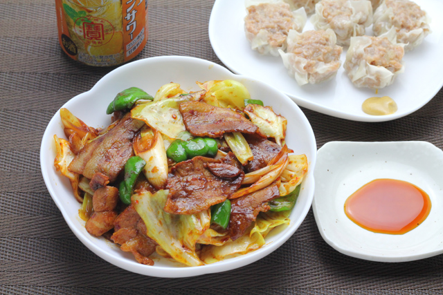 回鍋肉とシューマイ