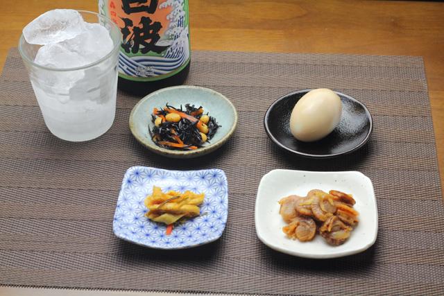 芋焼酎とオツマミ