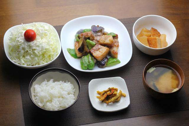 豚バラとナスの味噌炒め