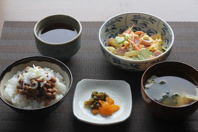 納豆の朝食