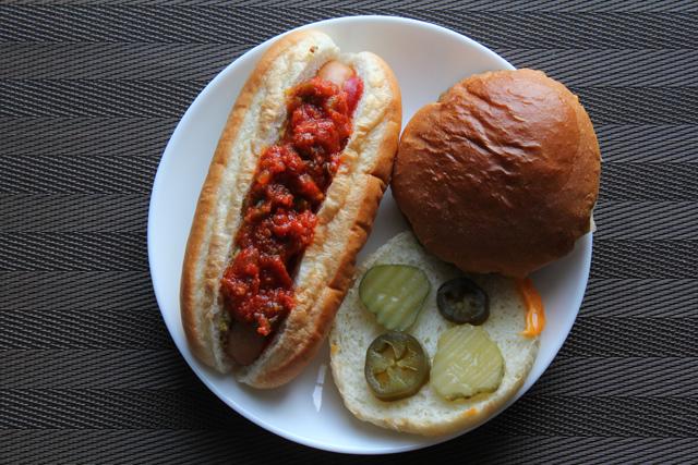 チーズバーガー&チリドッグ