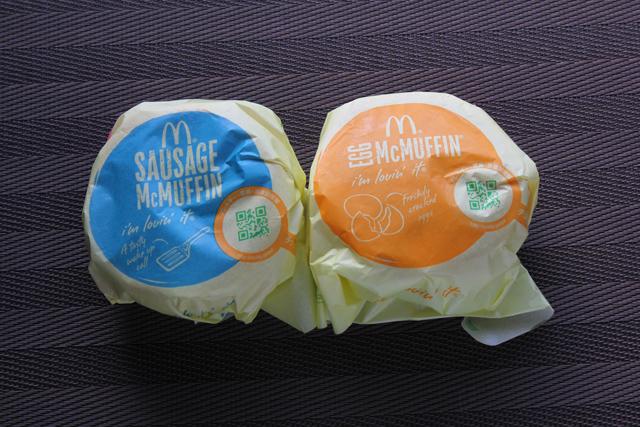 マクドナルド ソーセージマフィン&エッグマックマフィン