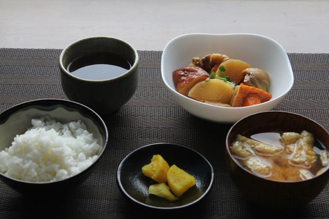 鶏大根の朝食