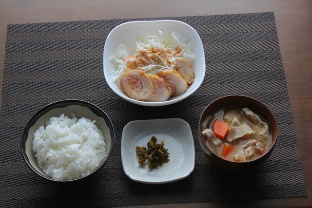 豚汁と鶏チャーシュー