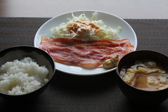 ベーコン定食