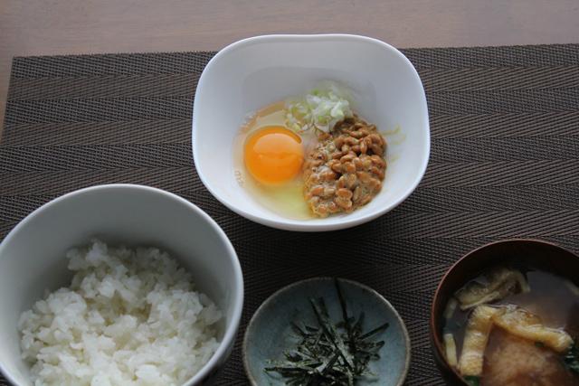 納豆卵かけご飯