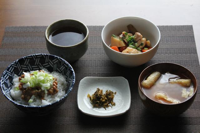 筑前煮と納豆