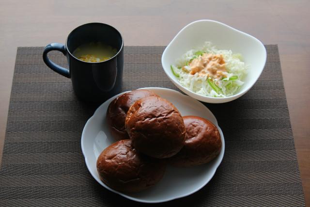 黒糖ロールパン