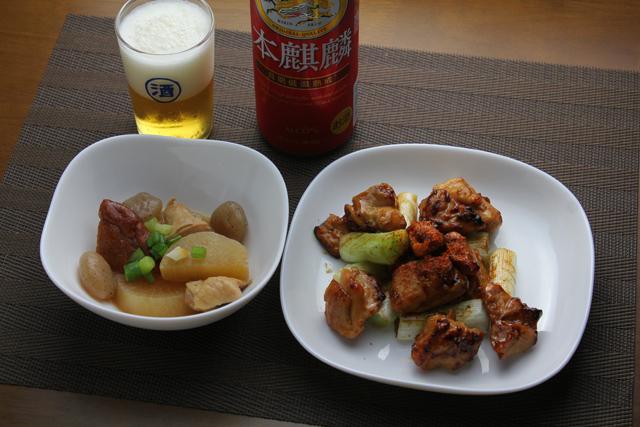 焼鳥と煮物