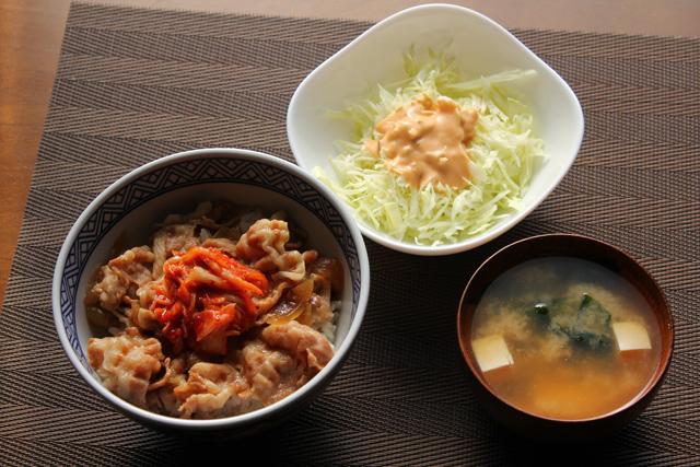 キムチ豚丼