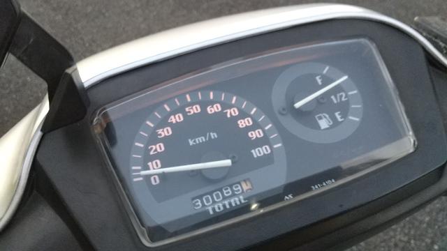 スクーター走行距離3万km達成