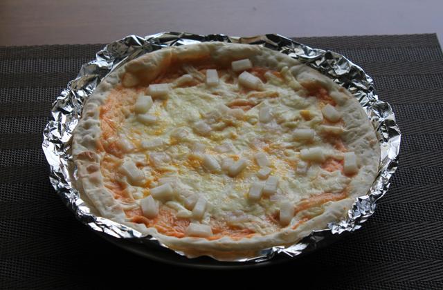 明太モチピザ