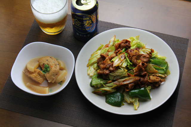 回鍋肉と煮物