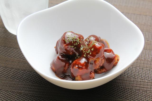肉団子のデミグラスソース煮