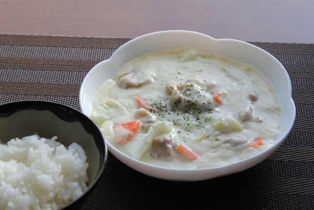 鶏ももと白菜のクリーム煮