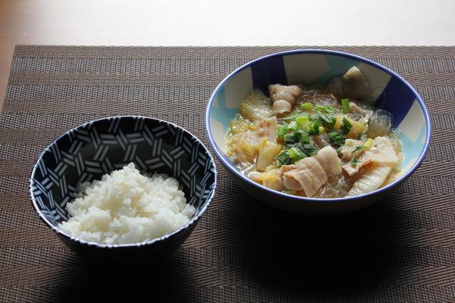 豚バラと白菜と春雨のうま煮