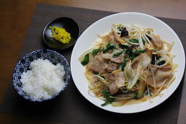 辛子ニンニク野菜炒め