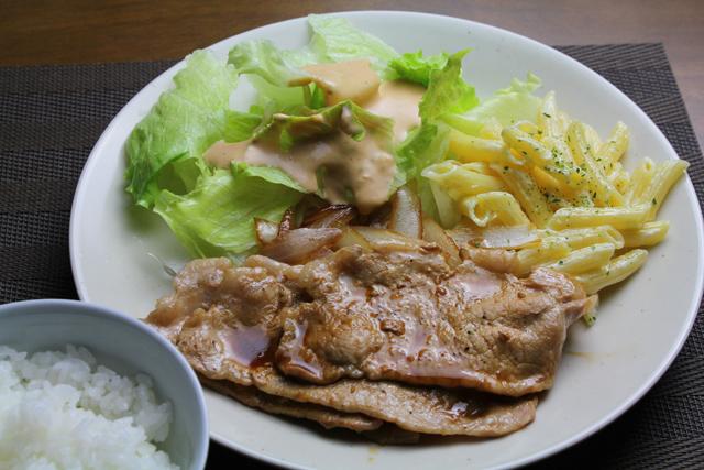 豚ロース薄切りの焼き肉