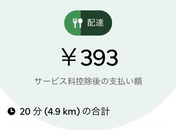 UberEats配達依頼