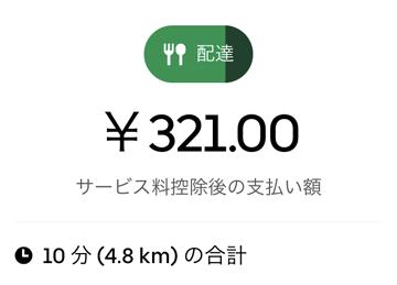 UberEats配達オーダー