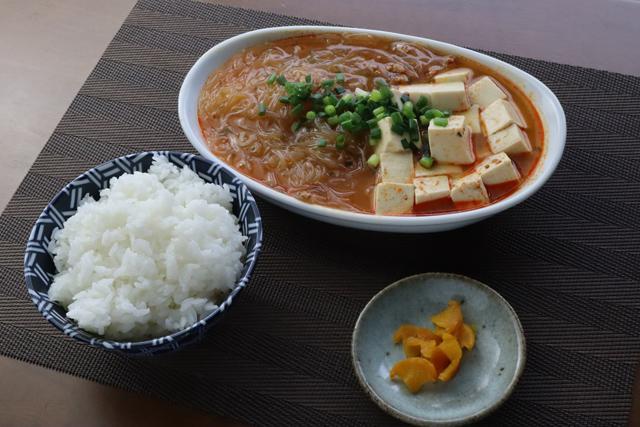 マーボー春雨豆腐