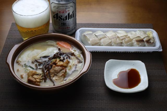 鶏鍋 豚骨醤油味